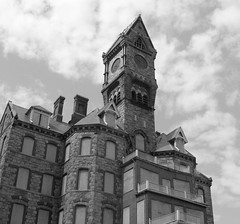 The Clock Tower B&W (Eclipse Pics (ncient)) Tags: blackandwhite bw blackwhite nikon massachusetts gothic newengland coolpix abc worcester flickrtoday coolpix7600 123bw nocathere worcesterstatementalhospital