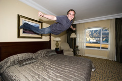 Flying Again - Table Bay (DanielN) Tags: selfportrait southafrica jump bed tablebay tablemountain bedjump