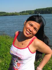 Schierstein (let) Tags: woman girl beauty lady female germany asian deutschland harbor pretty wiesbaden hessen amy snoopy rhein rheinufer schierstein skypeople schiersteinerhafen