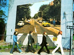 wall - abbey road mural (oddsock) Tags: wall beatles abbeyroad susannyc manipulatethis abbeyroadmural