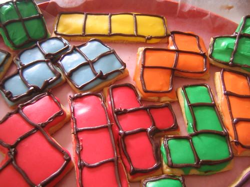 Tetrisowe ciastka, mache (CC)