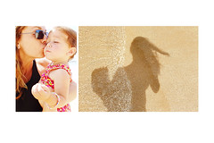 PS* - walking on the beach with my girl (sesame ellis) Tags: shadow bali selfportrait me girl sand toddler diptych mykid ps pointandshoot year2 storyboard aroundtheworldtrip2006 sedps