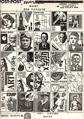 Mail Art Colaborative Stamp Sheet 1980s