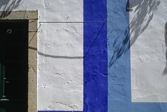 wall & door (goandgo) Tags: street door old trip blue white portugal wall fairytale buildings colours empty painted 1988 coloured goandgo