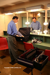 Dale Salwak backstage (Lee Asher) Tags: ohio lights stage magic 2006 illusion convention unload magifest