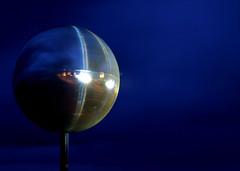 Mirror Ball Blackpool (E300 DSLR) Tags: light sea holiday night olympus lancashire promenade laser e300 seashore blackpool wyre fylde