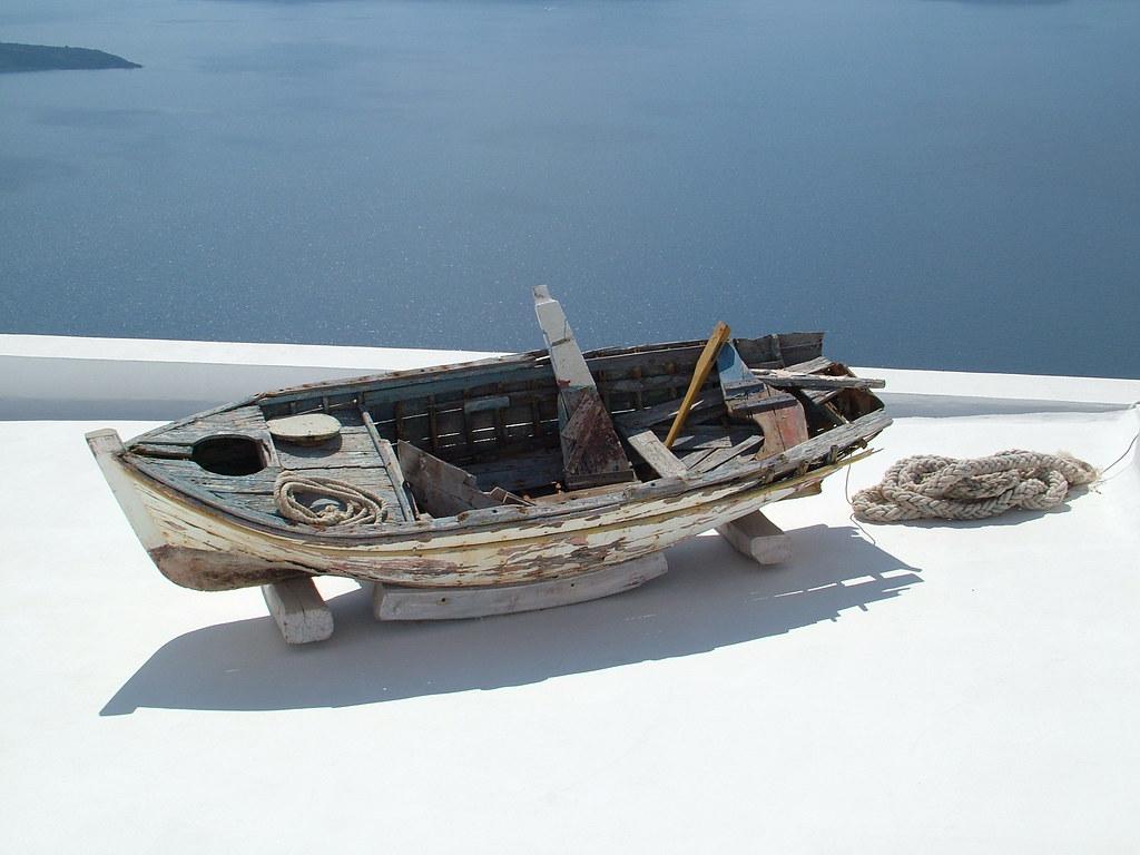 Boat, Fira Stefani, Santorini, Greece