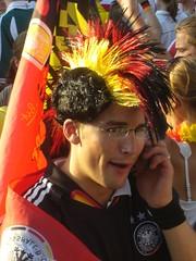 German football fan - one of my favorite pictures of this set (Sly's) Tags: football fiesta soccer wm celebration wc nrw fans mundial muenster nordrheinwestfalen münster munster fußball feier fußballweltmeisterschaft ludgeriplatz