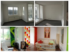 Before: After (retrodesignfan) Tags: panorama ikea bamboo livingroom marimekko panton vivienfischinger vernerpanton