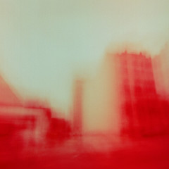 All blood is gone to architecture (nicolai_g) Tags: seattle color cars film blurry fuji moo medium format spacetime
