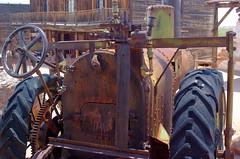 DSC_0105 (ONE/MILLION) Tags: old travel arizona tractor field crust gold town apache rust iron mine flickr fb antique engine rusty visit junction mining tours crusty facebook goldfield onemillion williestark