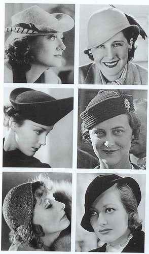1930s Hats Women http://www.cacitches.com/clothing-accessories/1930s-hats-for-women.html