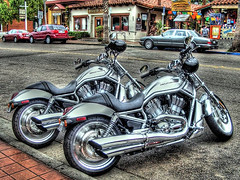 harley double (Kris Kros) Tags: california ca usa public bike cali photoshop photography la us losangeles interestingness high cool interesting nikon pix dynamic cs2 brothers twin ps icon harley socal american harleydavidson kris motorcycle davidson range hdr jjj kkg americanicon vrod 3xp photomatix pscs2 kros kriskros vrsc harleydouble kk2k kkgallery