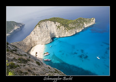 Schmugglerbucht (nune) Tags: travel sea vacation nature water ilovenature 2006 cliffs greece shipwreck zante zakynthos navagio schmugglerbucht