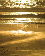 SHIMMER (peke_cheeks) Tags: light beach gold waves algarve waterscape thisisportugal faroisland fourfavs allthatglitterisgold
