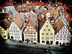 Houses in Rothenburg ob der Tauber (M3R) Tags: travel house building architecture germany interestingness lomo ancient rothenburg carfree rothenburgobdertauber walledtown bluelist photofaceoffwinner photofaceoffplatinum mariaismawi