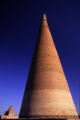 Minaret, Konya Urgench, Turkmenistan (dwrawlinson) Tags: architecture asia central unesco ussr urgench konya turkmenistan turkemenistan