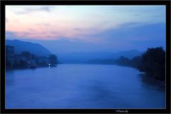 blue river (Mexxi) Tags: morning pink blue red mist water fog clouds photoshop sunrise river haze inn wasser mood nebel foggy rosa wolken bleu serene blau fluss magical sonne sonnenaufgang morgen hdr stimmung passau dunst neblig mexxi dreiflssestadt