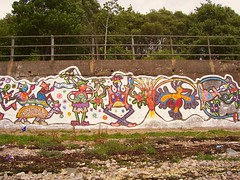 Loch Eil ,Fort William,Scotland wall painting (ismebeegal) Tags: streetart bird graffiti volcano mural tortoise publicart graff wallpainting locheil paintedanimalsdancing menpainted
