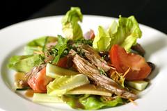 beef salad (mochiland) Tags: food dinner 50mm salad beef cucumber mint lettuce fishsauce tamarind beefsalad myeverydaylife heriloomtomatoes