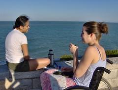 cecile y naelia en Mar del plata (Claire tango) Tags: frangine