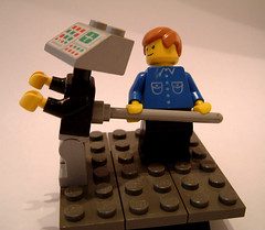 Cash register and broom lego
