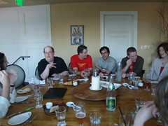Dinner at Fenouil - round table (kitseeborg) Tags: oregon dinner portland iai ia mattmullenweg photomatt jaredspool fenouil brianoberkirch webvisions06 billderouchery