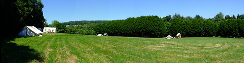 Panorama of our camping site in Mozet