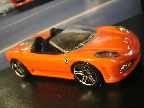 A Hot Wheels Ferrari 430 Spider.