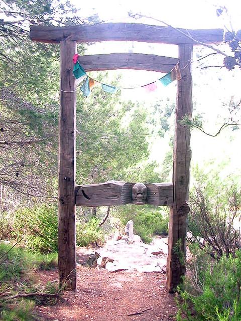 Ordination Stupa   entrance