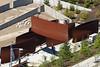 "300 tons of steel floating into place - Richard Serra's ""Wake"" (Belltown) Tags: sculpture wake sam steel seattleartmuseum richardserra osp olympicsculpturepark"