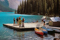Lake Moraine Summer Scene (under the influence of dub) Tags: morainelake nearlakelouise