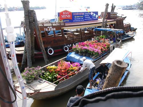 Flower delivery, Mekong Delta VN