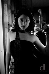 David De Lara (Agent Retro) Tags: portrait me girl dark gun modeling retro handgun magnum femaleform girlwithgun agentretro daviddelara