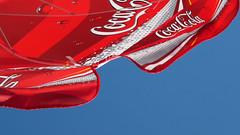 Coke Umbrella (Maharepa) Tags: leica blue red sky rot umbrella geotagged rouge cola drink digilux2 beverage himmel coke bleu blau coca photodesign schirm fotodesign geo:lat=55017001 geo:lon=8438873