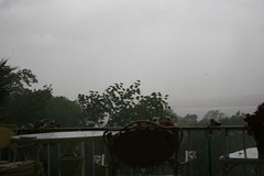 severe T-storm, taken from 2014 patio; W-5-24-06 (15) (SixFive175) Tags: sunset summer cloud house storm home weather squall illinois spring east thunderstorm tornado peoria