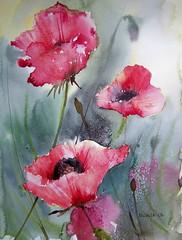 poppies (mitsib kral) Tags: flower painting nude watercolour