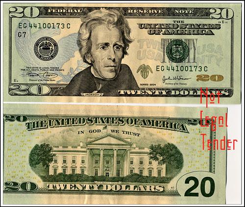 dollar bill. 20 dollar bill