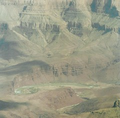 View into the Grand Canyon. (monika & manfred) Tags: water closeup grandcanyon mm northrim muted foldings stonestructures rivercolorado mountainfoldings utataview