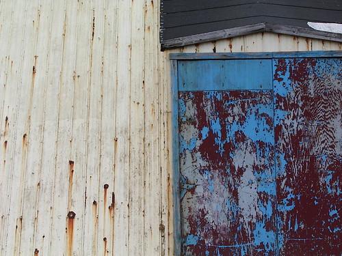 bluish door