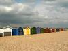 Huts in a different light (Lazy B) Tags: uk sunlight beach tag3 clouds tag2 colours tag1 haylingisland august 2006 pebbles hampshire huts fz5 kiss2 kiss3 kiss1 kiss4 kiss5 btlh