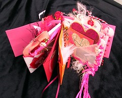 Valentine's Day Chunky Book: open (renmeleon) Tags: pink art collaborative breastcancer ria valentinesday renmeleon chunkybook renhost pinkforthecure renfolio