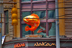 South Side Pittsburgh Japanese Eatery  -  Nakama (Marc_714) Tags: windows food fish reflection sign japanese reflex streetlight flickr pittsburgh wires marc southside poles 714 nakama 0714 cher0213 marc714