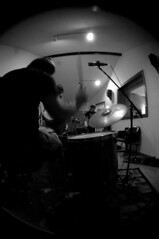 in the pocket percussionist (johnnyalive) Tags: show blackandwhite bw music rock surf lafayette live band blues indiana production recording rockandroll studioalbum liverecording culturecast thehalfrats