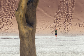 At Deadvlei, Namibia