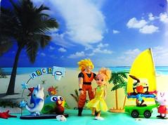 """Un incontro appassionato - """"Il mare d'inverno"""" (_Giò_) Tags: toys fun fantasy colours sea beach"""
