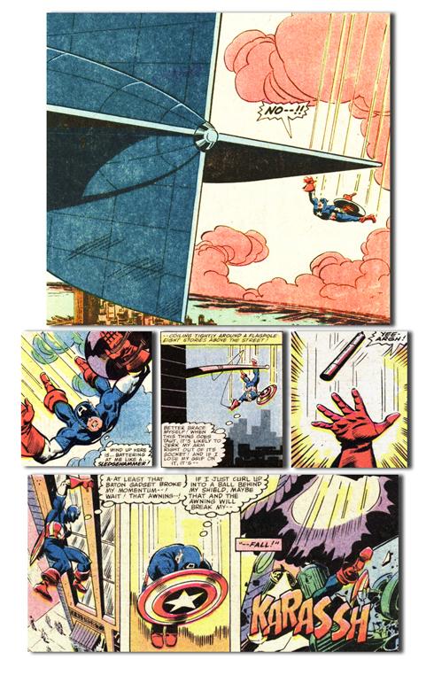 Captain America falls