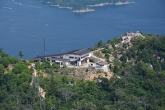 Miyajima (AykutPamuk) Tags: cloud japan island shrine path aerial hiroshima miyajima torii ropeway itsukushima