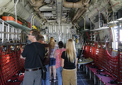 C-130H Hercules interior (SteveMather) Tags: ohio usa airplane martin interior aircraft air guard august cargo national area oh fighters lockheed hercules c130 bombers portclinton 2015 c130h 179thairliftwing libertyaviationmuseum wingswarbirds
