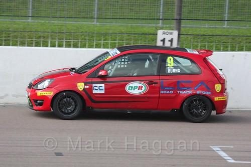 Bradley Burns in Race 1, Fiesta Junior Championship, Rockingham, Sept 2015
